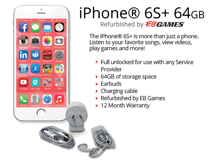 Iphone 174 6s Plus 64gb Silver Refurbished By Eb Games