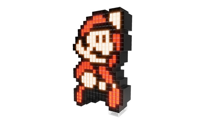 Mario pixel pals 8 bit light up decoration eb games for 8 bit decoration