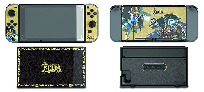 from Zelda Breath of the Wild and can be removed without leaving  behind any residue. Style your Nintendo Switch the way you want and keep it  protected.
